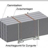 Lagerpalette Zurrgurte